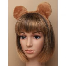 Brown Furry Fabric Teddy Bear Ears Aliceband