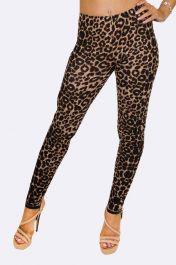 Brown Leopard Print Legging