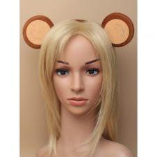 Brown Monkey Ears Aliceband