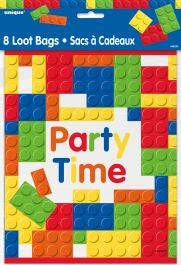 Building Blocks Party Time Bags (Pack of 8)