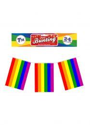 Bunting Rainbow 7m W/24 Rect Flags Nylon