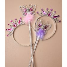 Butterfly Design Wand and Tiara Set (2 asstd)
