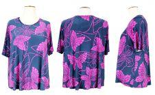 Butterfly Print Short Sleeve Top
