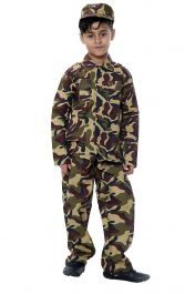 Camouflage Army Children Costume