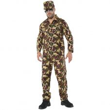 Camouflage Army Men Costume