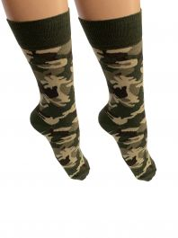 Mens Camouflage Print Ankle High Socks(12 Pairs)