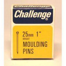 Challenge Moulding Pins (Veneer Pins) - Bright Steel (Box Pack) - 25mm