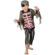 Children  Skeleton Pirate Costume