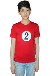 Children 2 Red Printed T-Shirt