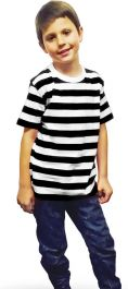 Children Black & White Stripe T-Shirt (Slightly Damage)