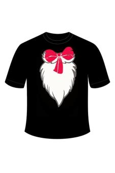 Children Cat Printed Black T-Shirt