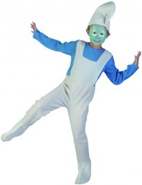 Children Blue Elf Costume