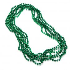Children Green Plastic Bead Necklaces (Approx 48 Inches)
