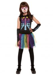 Children Multicoloured Skeleton Costume