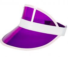 Children Purple Poker Visor Hat (12 Pcs)