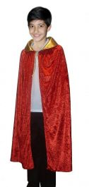 Children Red-Golden Velvet cape