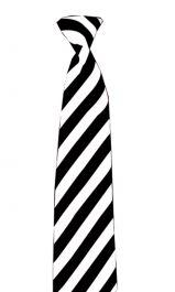 Children Satin Black/White Striped Neck Tie