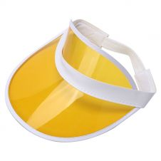 Children Yellow Poker Visor Hat (12 Pcs)