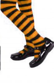 Child Stripe Tights Orange/Black