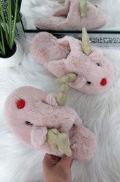 Christmas Reindeer Slippers Sandal Pink