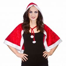Christmas Santa Velvet Hooded Cape