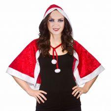 Christmas Santa Velvet Hooded Cape