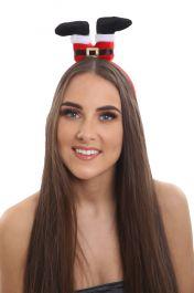 Christmas Santa legs upside Down Aliceband