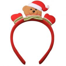 Christmas Teddy Bear Aliceband