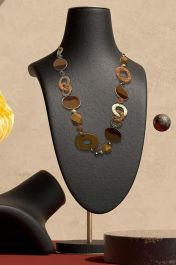 Chunky Mixed Large Discs Necklace