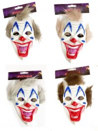 Clown Mask 3 Assorted