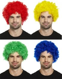 Clown Wig 4 Assorted Color 120g