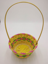 Coloured Easter Bamboo Basket (39x23cm)