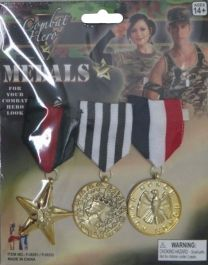 Combat Hero Medals (3 Pcs Pack)