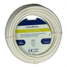 Commtel 3 Core Round Flex White 10m 1.5mm2