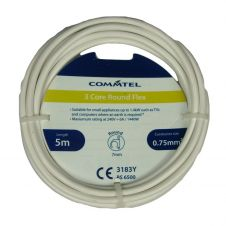 Commtel 3 Core Round Flex White 5m, 0.75mm2