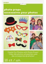 Confetti Birthday Photo Props (Pack of 10)