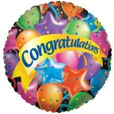 Congrats Festive Balloons (18 Inches)