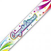 Congratulations Swirl Banner 9 Feet Long