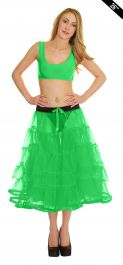 Crazy Chick 5 Tier Petticoat with Ribbon Green TuTu Skirt (Approximately 26 Inches Long)