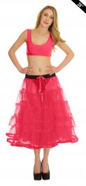 Crazy Chick Pink TuTu Skirt 5 Tier Petticoat with Ribbon (Approximately 26 Inches Long)
