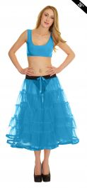 Crazy Chick 5 Tier Petticoat with Ribbon Turquoise TuTu Skirt (Approximately 26 Inches Long)