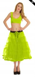 Crazy Chick 5 Tier Petticoat with Ribbon Yellow TuTu Skirt (Approximately 26 Inches Long)