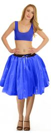 Crazy Chick 3 Layers Blue TuTu Skirt (Approx 18 Inches Long)