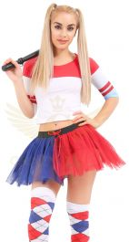 Crazy Chick 3 Layers Blue-Red TuTu Skirt