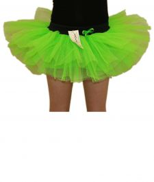 Crazy Chick Girls 3 Layers Green TuTu Skirt