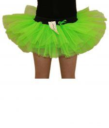 Crazy Chick Girls 3 Layers Green TuTu Skirt