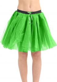 Crazy Chick 3 Layers Green TuTu Skirt (Approx 18 Inches Long)
