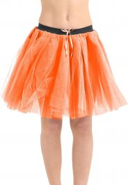 Crazy Chick 3 Layers Orange TuTu Skirt (Approx 18 Inches Long)