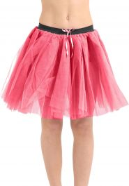 Crazy Chick 3 Layers Pink TuTu Skirt (Approx 18 Inches Long)