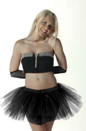 Crazy Chick 3 Layers Plain Black TuTu Skirt